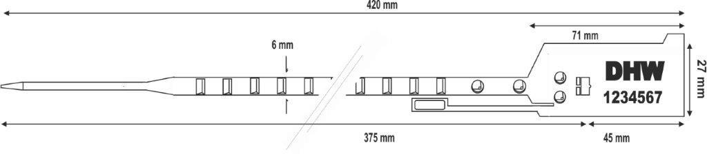 sigilli regolabili in plastica bagseal