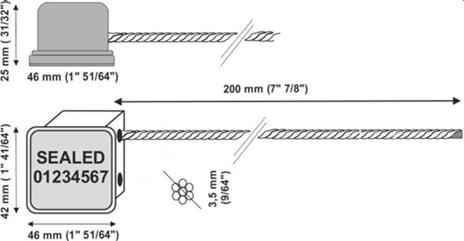 Sigiliu RFID cablu multifilar-desen