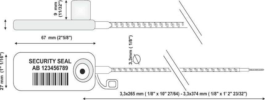 Sigiliu din plastic-rfid-desen